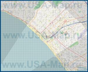 Подробная карта города Санта-Моника