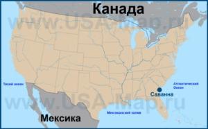 Саванна на карте США
