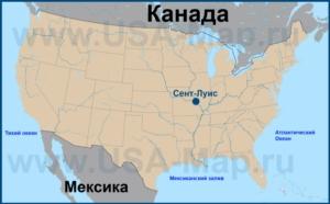 Сент-Луис на карте США