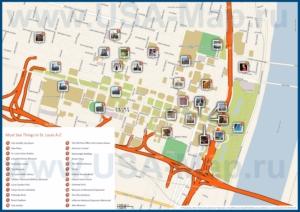 Туристическая карта Сент-Луиса с достопримечательностями