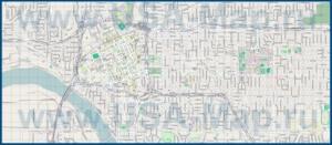 Подробная карта города Талса