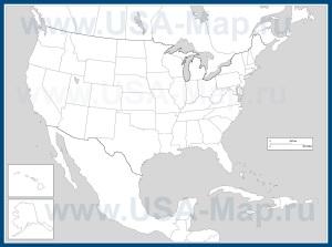 Контурная карта США