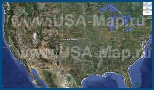 Спутниковая карта США