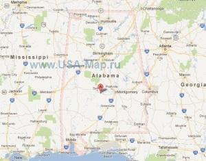 Подробная карта Алабамы