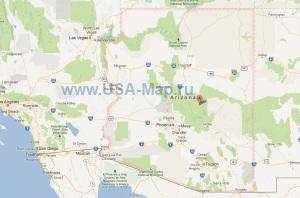 Подробная карта Аризоны