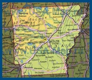 Карта Арканзаса на русском языке