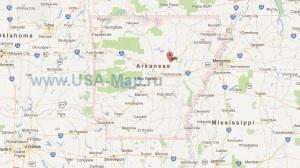 Подробная карта Арканзаса