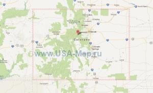 Подробная карта Колорадо