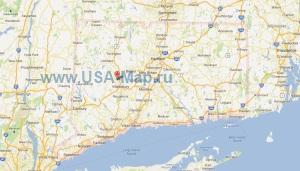 Подробная карта Коннектикута
