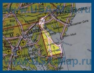 Карта Делавэра на русском языке
