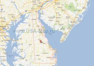 Подробная карта Делавэра