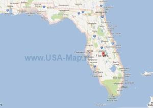 Подробная карта Флориды