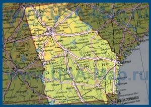 Карта Джорджии на русском языке