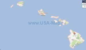 Подробная карта Гавайских островов