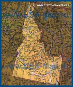 Карта Айдахо на русском языке