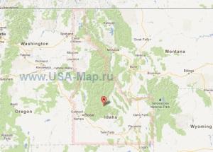 Подробная карта Айдахо