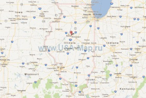 Подробная карта Иллинойса