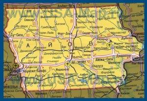 Карта Айовы на русском языке