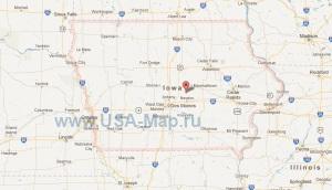 Подробная карта Айовы