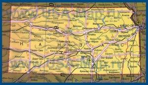 Карта Канзаса на русском языке