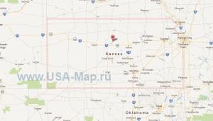 Подробная карта Канзаса