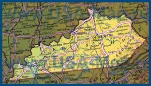 Карта Кентукки на русском языке