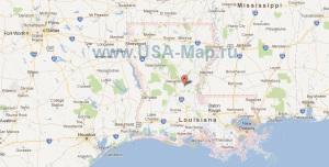 Подробная карта Луизианы