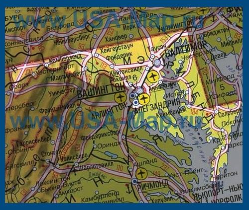 Карта мэриленда на русском языке