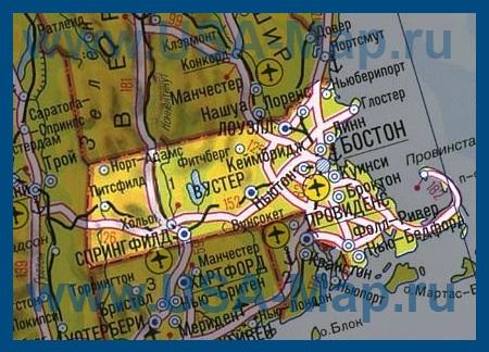 Карта массачусетса на русском языке