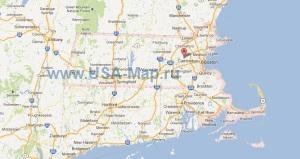 Подробная карта Массачусетса