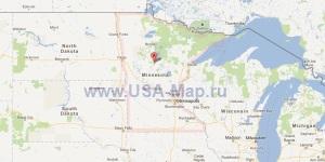 Подробная карта Миннесоты