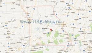 Подробная карта Миссури