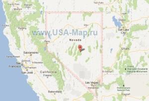Подробная карта Невады