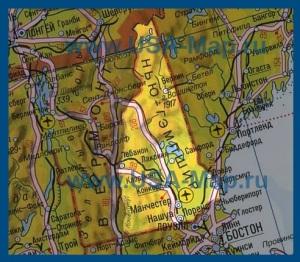 Карта Нью-Гэмпшира на русском языке