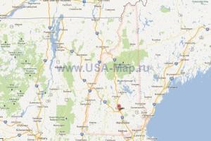 Подробная карта Нью-Гэмпшира