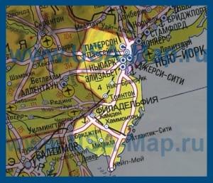 Карта Нью-Джерси на русском языке