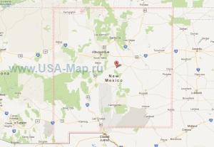 Подробная карта Нью-Мексико