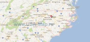 Подробная карта Северной Каролины