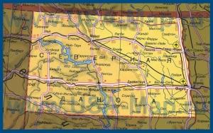 Карта Северной Дакоты на русском языке