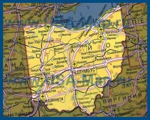 Карта Огайо на русском языке