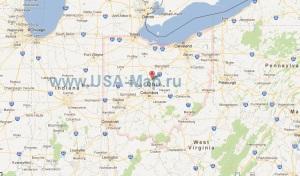 Подробная карта Огайо