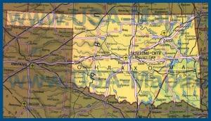 Карта Оклахомы на русском языке