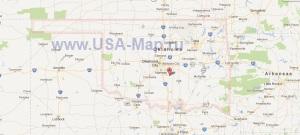 Подробная карта Оклахомы