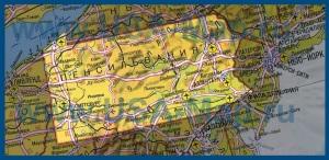 Карта Пенсильвании на русском языке