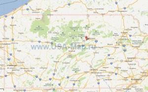 Подробная карта Пенсильвании