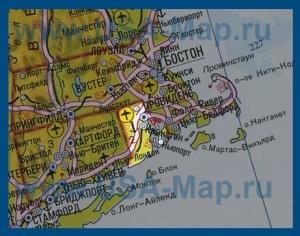Карта Род-Айленда на русском языке