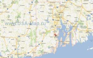 Подробная карта Род-Айленда