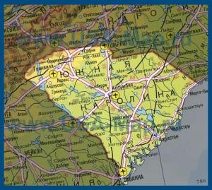 Карта Южной Каролины на русском языке