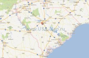 Подробная карта Южной Каролины