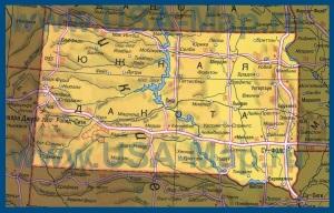 Карта Южной Дакоты на русском языке